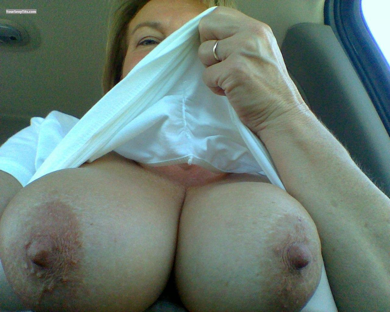 Tit Flash: My Big Tits (Selfie) - Squirt from United States