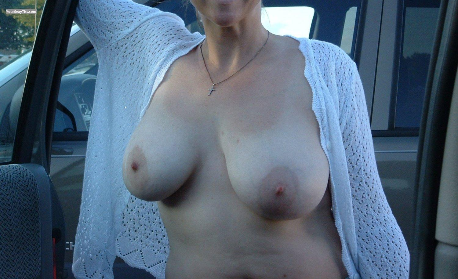 Tit Flash: Big Tits - Sexy from Canada