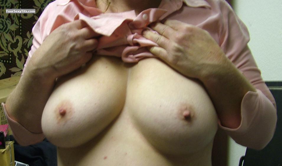 Tit Flash: Big Tits - Handfull from United States