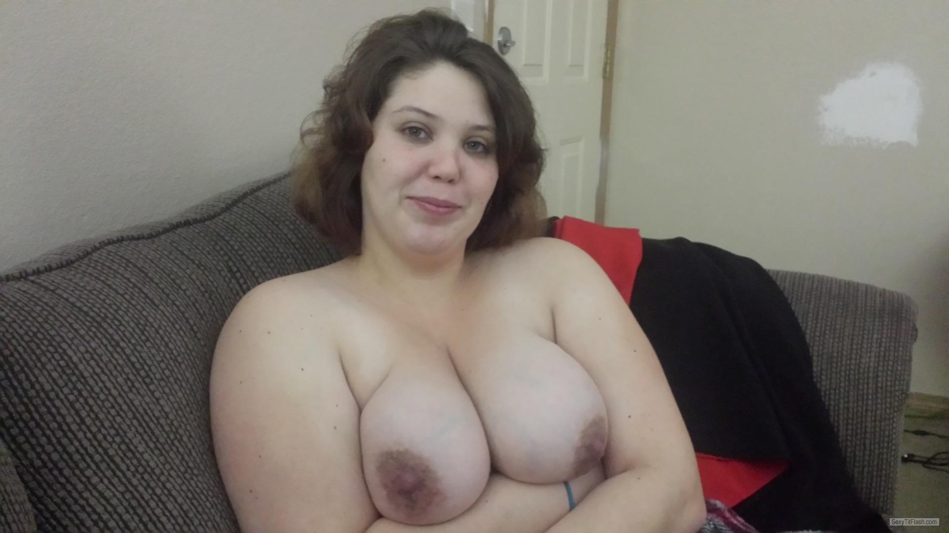Tit Flash: Wife's Big Tits - Topless Jenny from United States