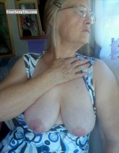 Tit Flash: Big Tits - Topless Ann D from United States