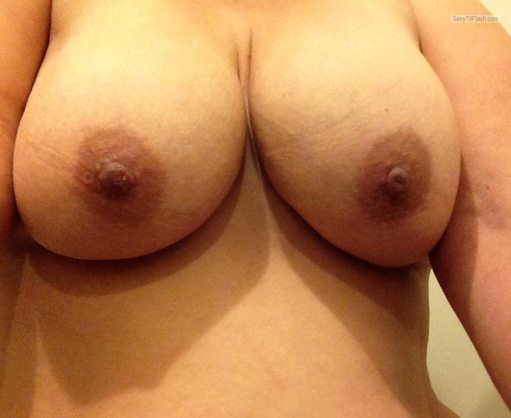 Tit Flash: Wife's Big Tits (Selfie) - Wife's Set from Australia