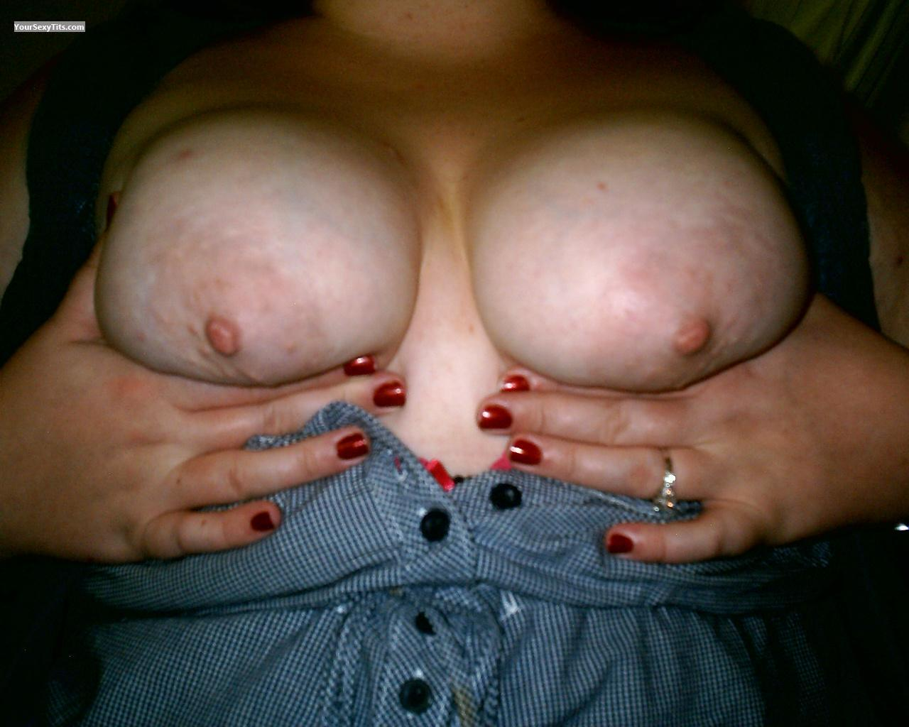 Tit Flash: Wife's Big Tits - SweetJ from South Africa