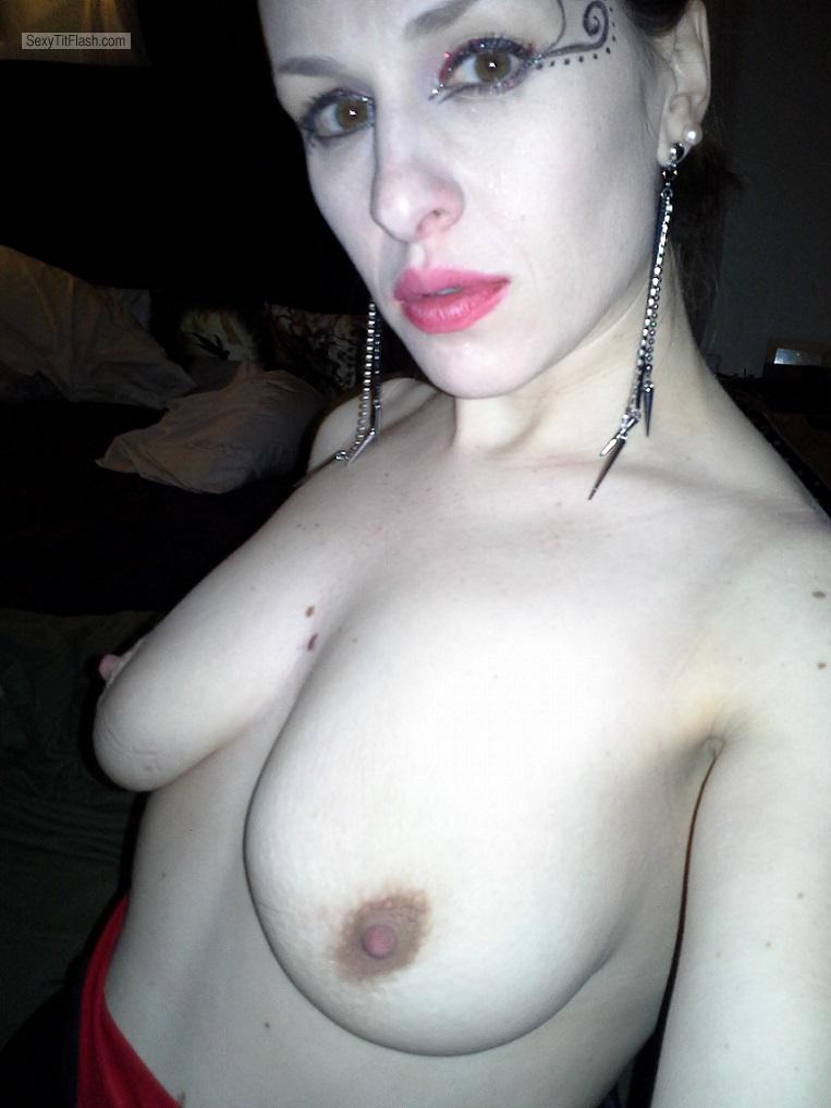 Big Tits Of My Ex-Girlfriend Topless Selfie by Heidi