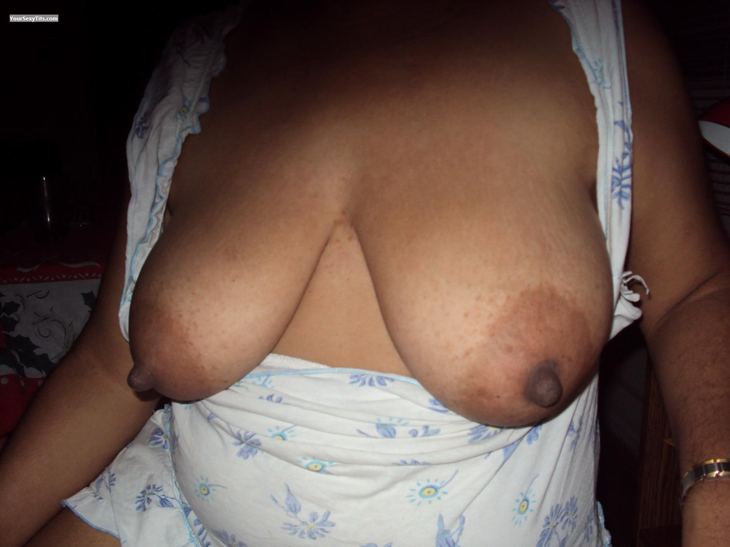 Tit Flash: My Big Tits (Selfie) - LMB from Panama