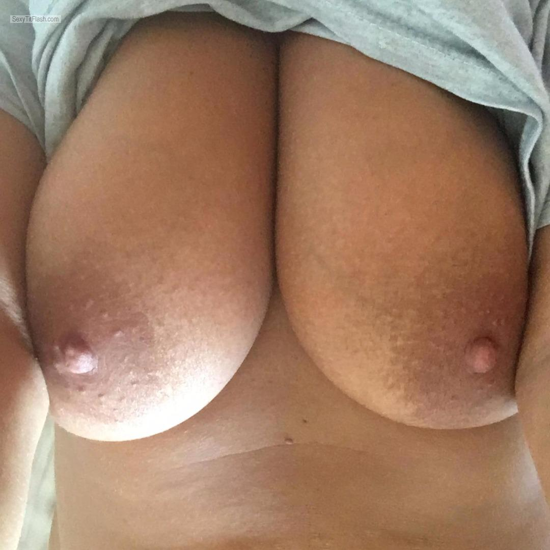Tit Flash: My Big Tits (Selfie) - Bella from United States