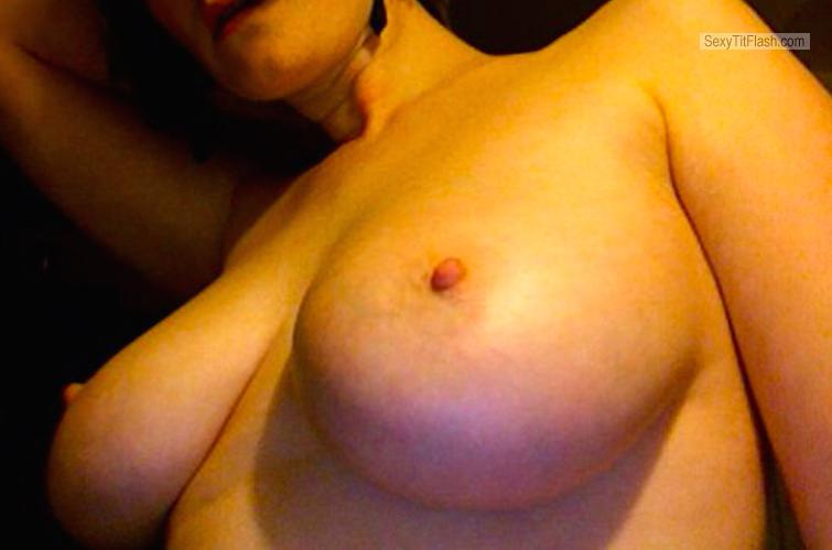 Big Tits Of A Friend Topless Selfie by Bored In Iceland