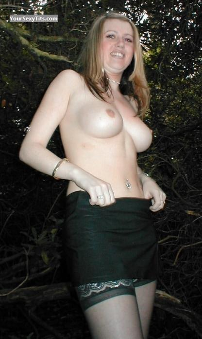 Tit Flash: Big Tits - Topless Conny from United Kingdom