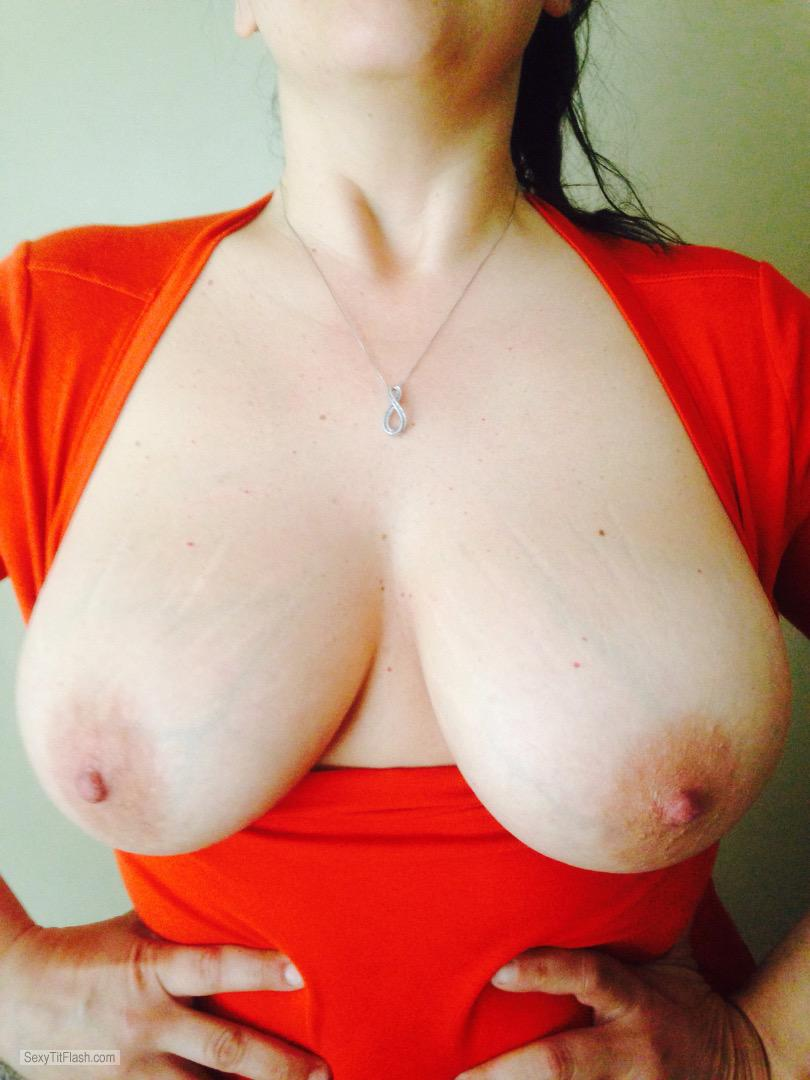 Tit Flash: Wife's Big Tits - Shan from United States