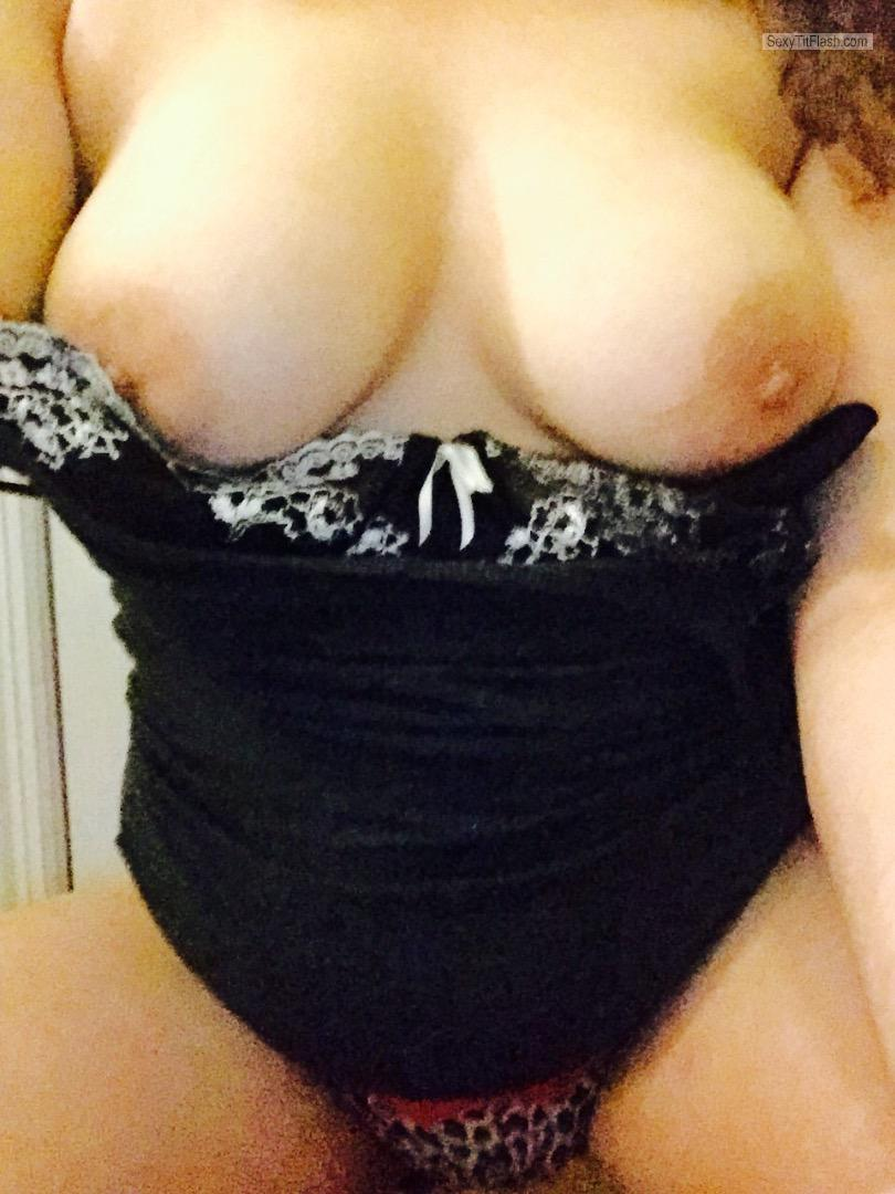Tit Flash: My Big Tits (Selfie) - Naughtyme from United Kingdom