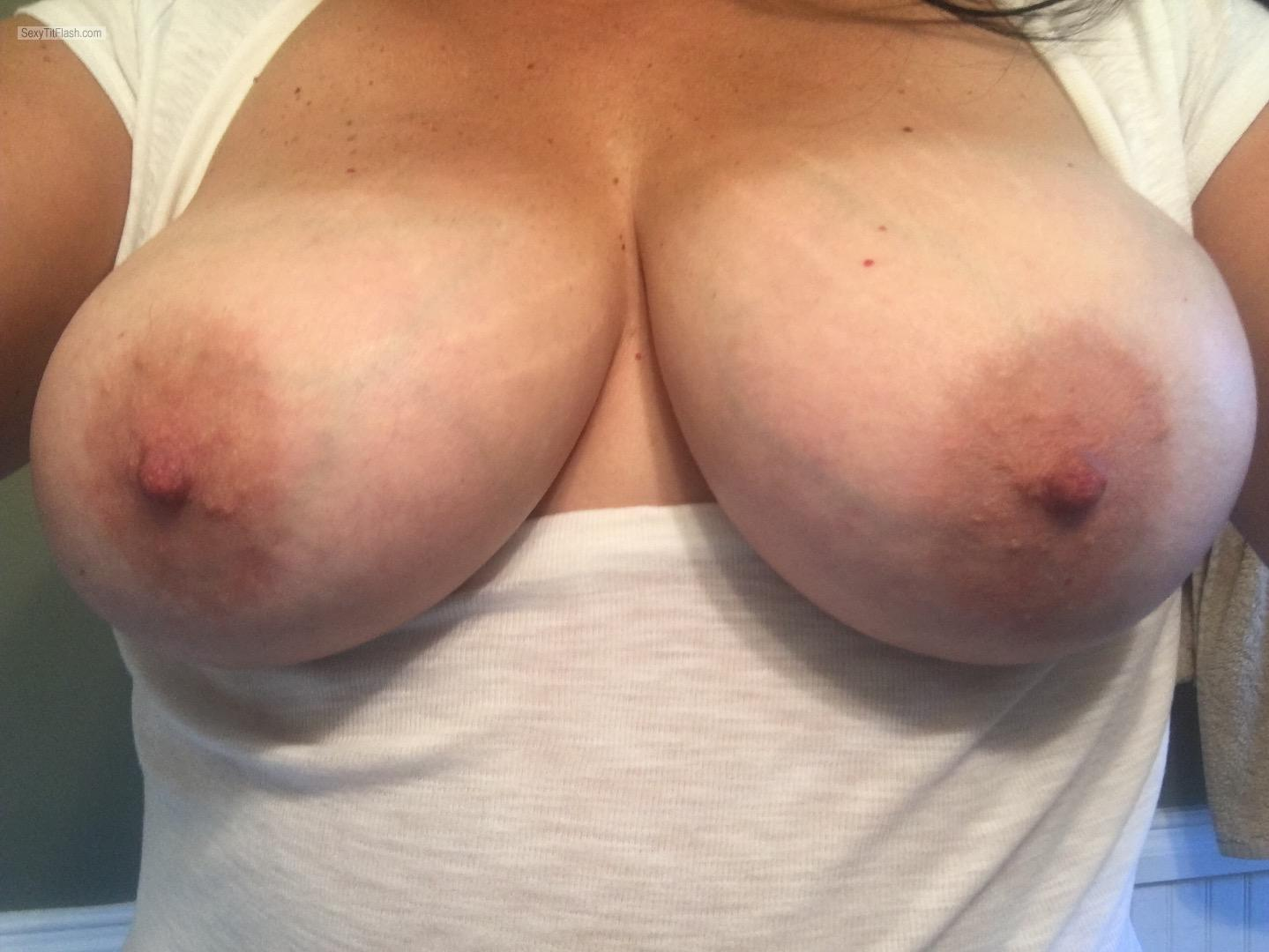 Tit Flash: My Big Tits - Topless Shannon from United States