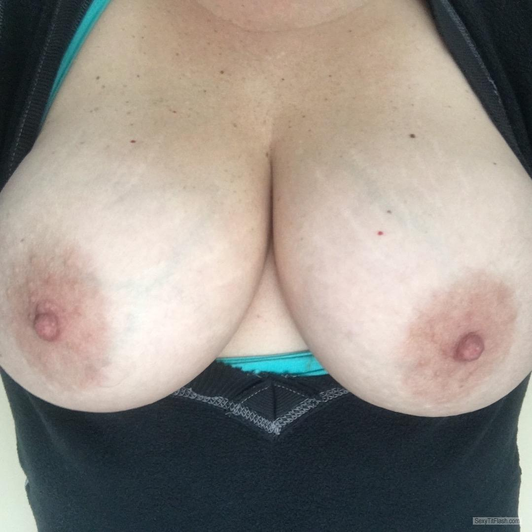 Tit Flash: My Big Tits (Selfie) - Kyles Bitch from United States