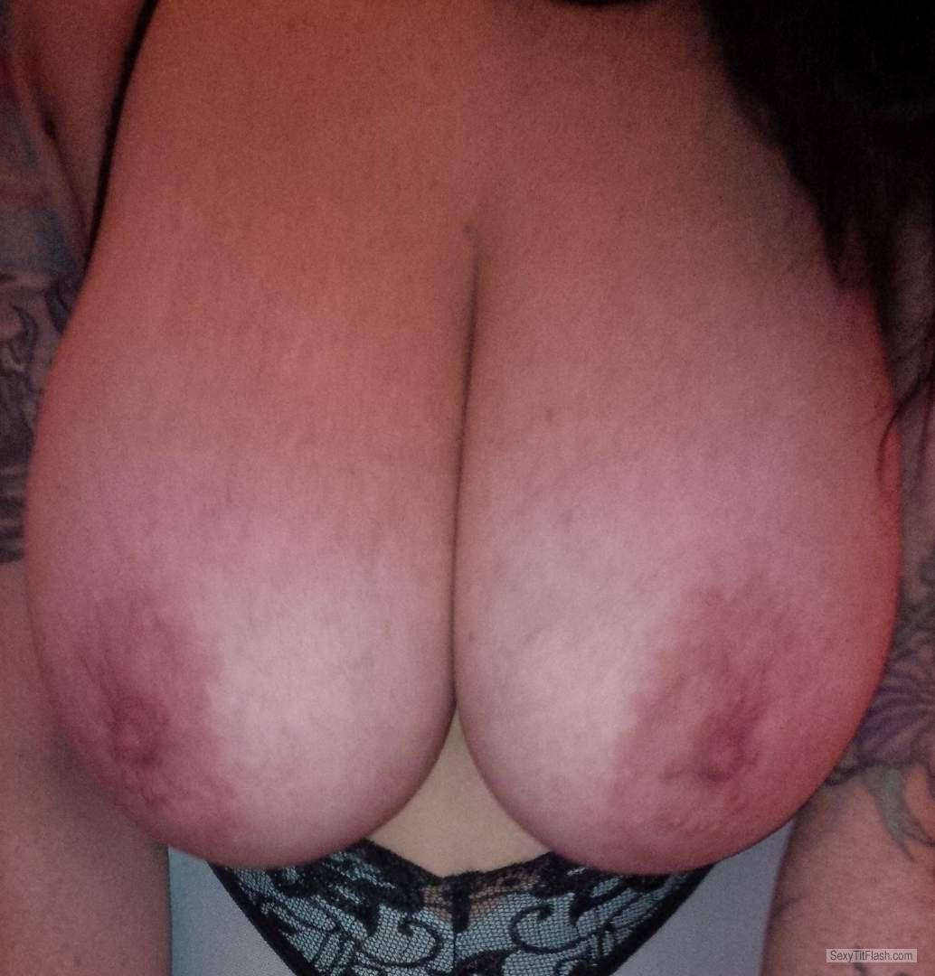 Tit Flash: My Big Tits - Topless Naughty from United Kingdom