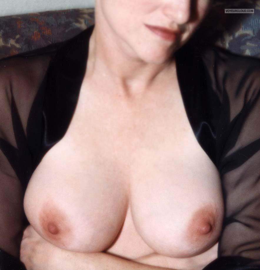 Tit Flash: Wife's Big Tits - Denyse from United States