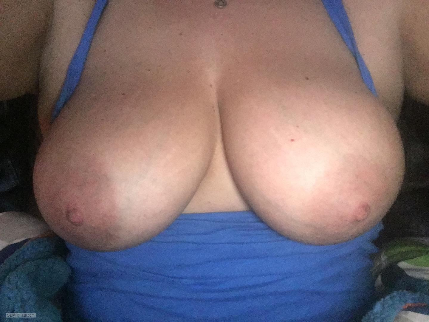 My Big Tits Topless Selfie by Pats Fan