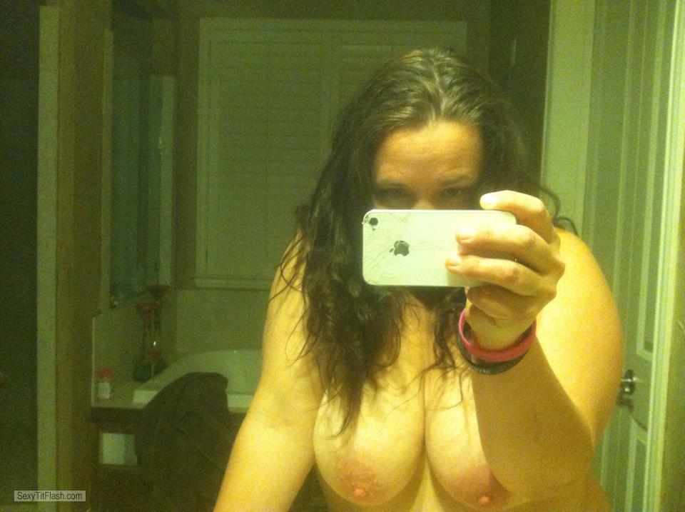 Tit Flash: My Big Tits (Selfie) - Driscoll Gal from United States