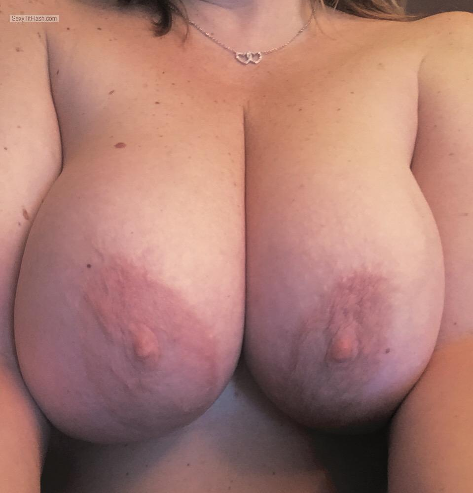 Tit Flash: My Big Tits (Selfie) - 38DeeDees from United States