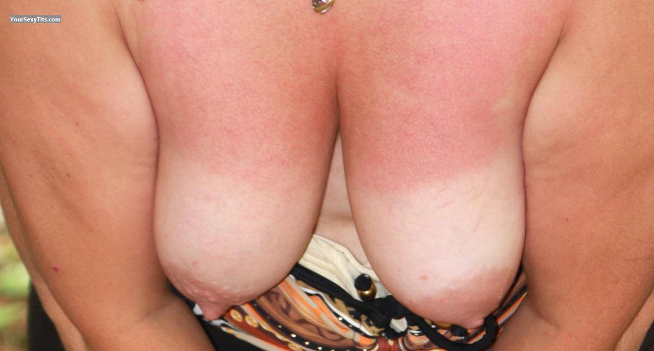 Tit Flash: My Tanlined Big Tits - Sue from United States