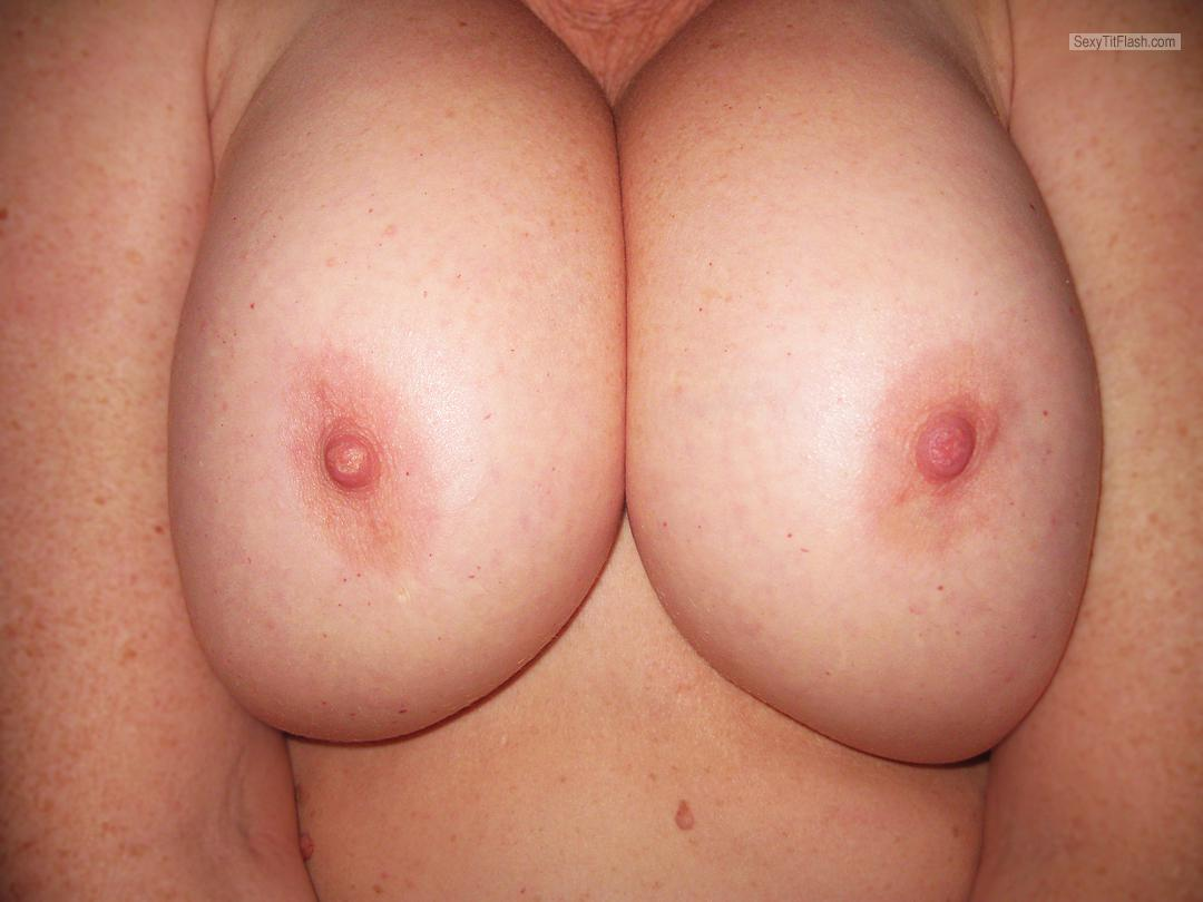 Tit Flash: Wife's Big Tits - IssaD from United States