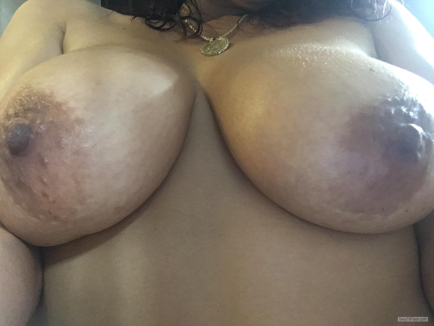 My Big Tits Topless Selfie by Hotlatina