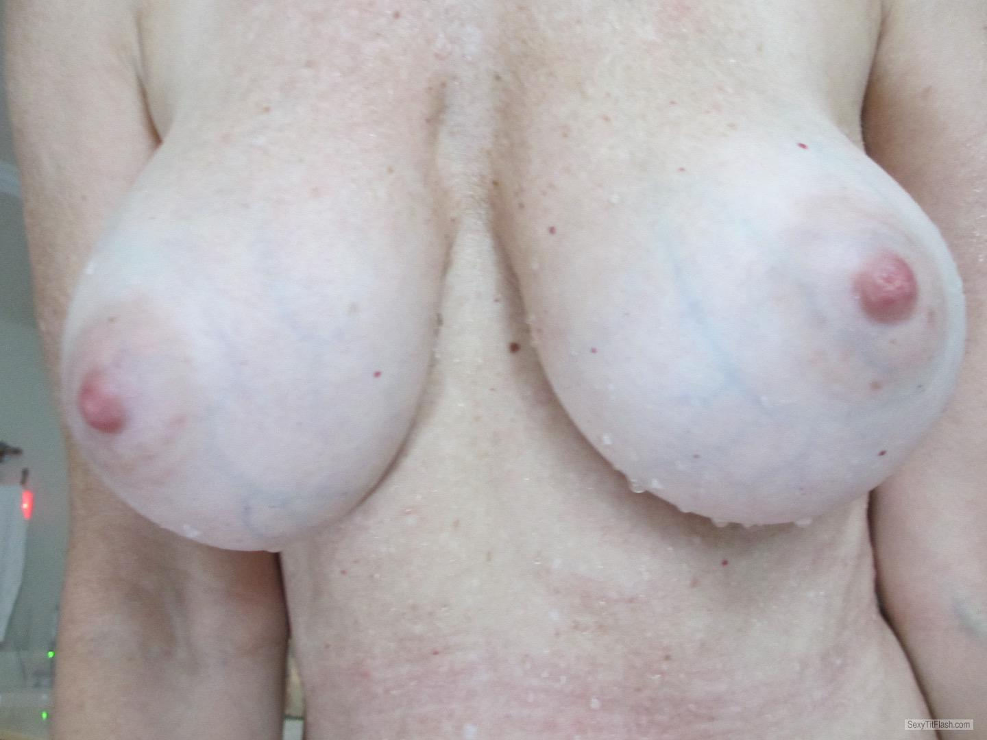 Tit Flash: Wife's Big Tits - Rellim from United States