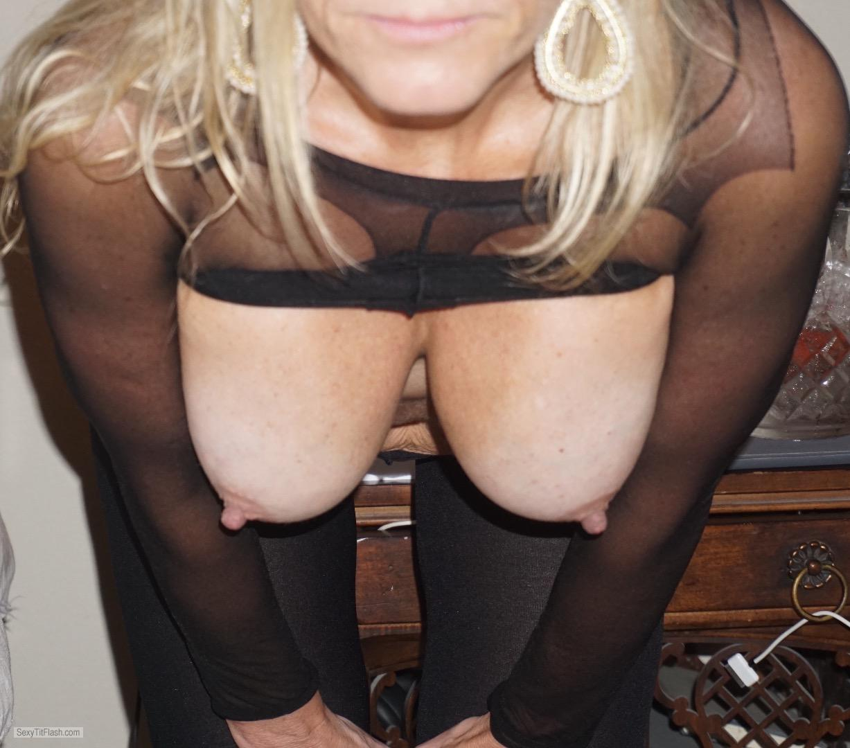 Tit Flash: My Big Tits - Blondie Friend from United Kingdom