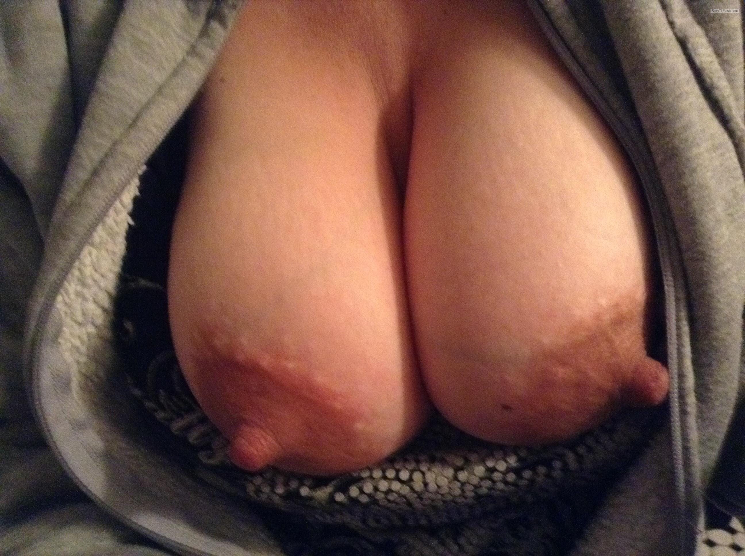 Tit Flash: Wife's Big Tits - Tittymom from United States