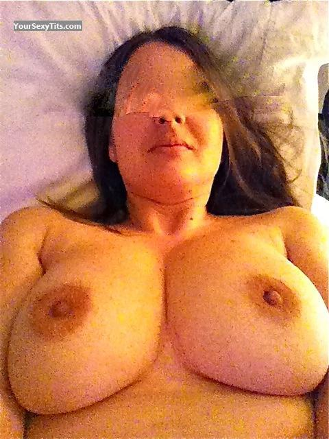 Tit Flash: My Big Tits (Selfie) - Topless Kandl from United States