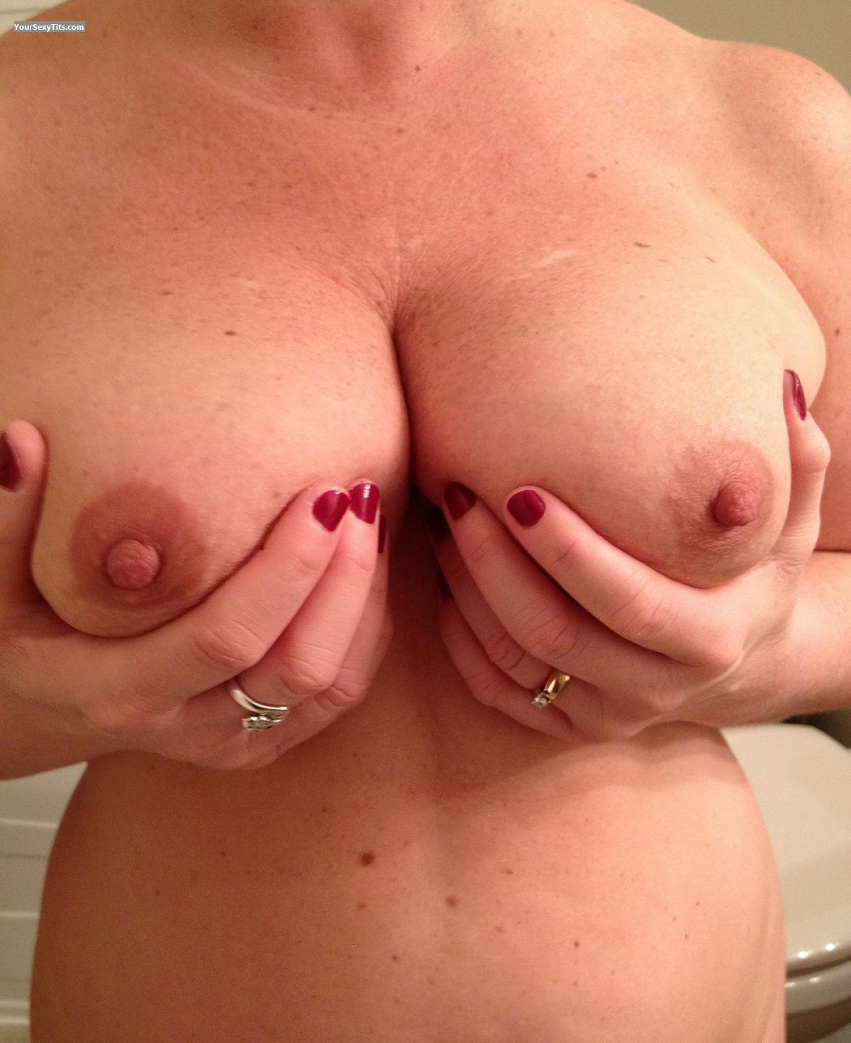 Tit Flash: Wife's Big Tits - Spectacular from Canada