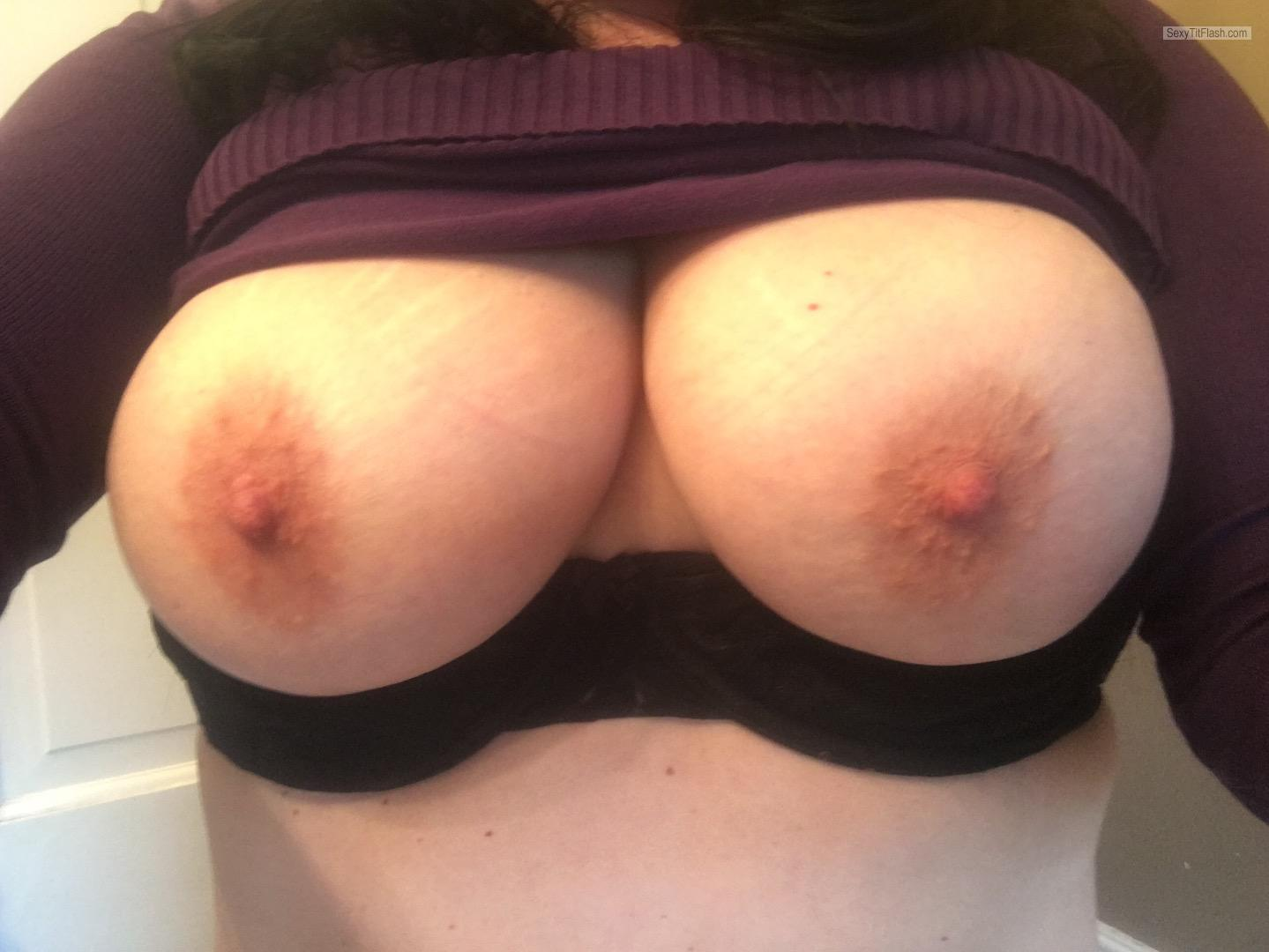 Tit Flash: My Big Tits (Selfie) - Topless Shan Non from United States