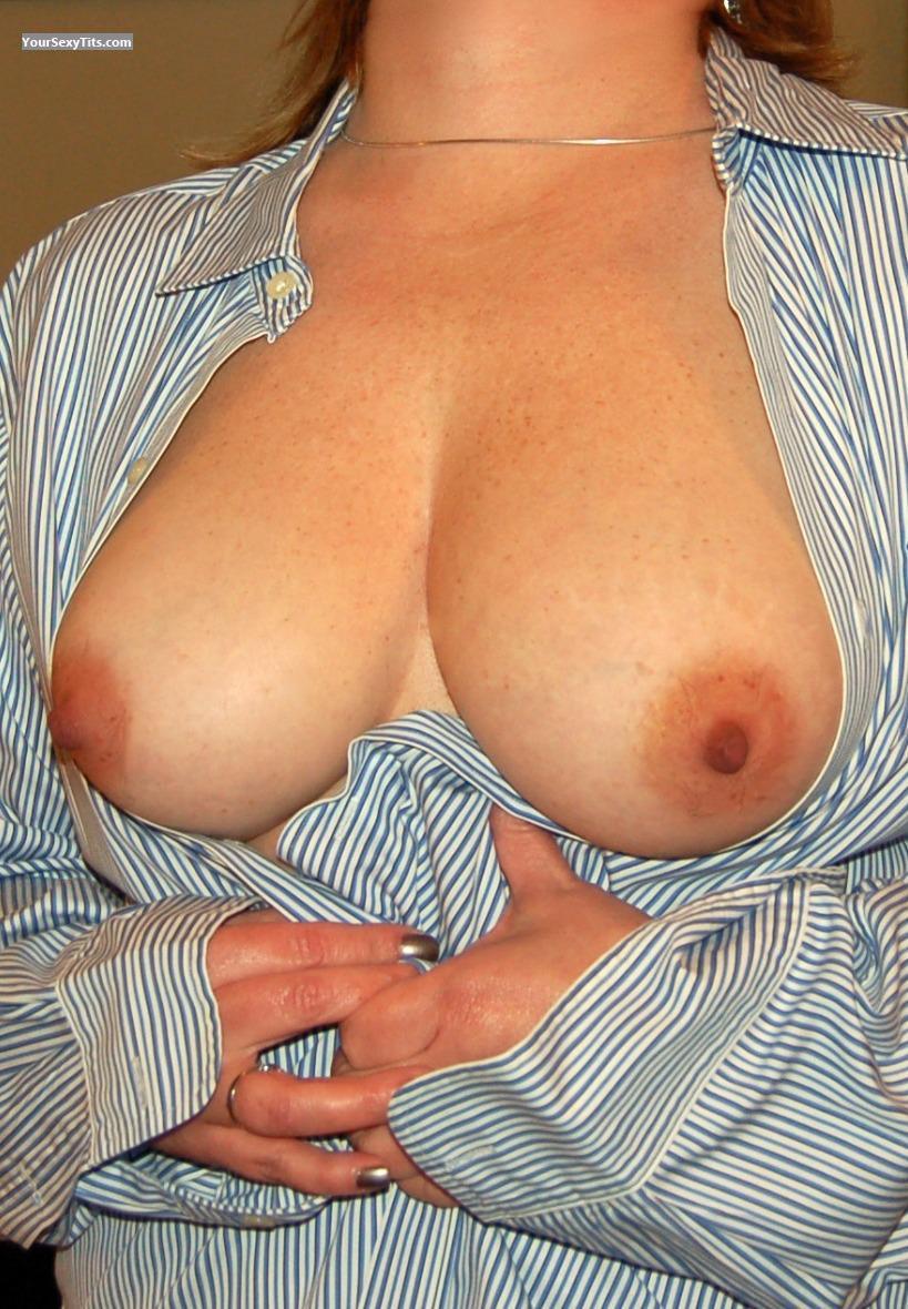 My big boobs in white t shirt tank top see thru nipples 6