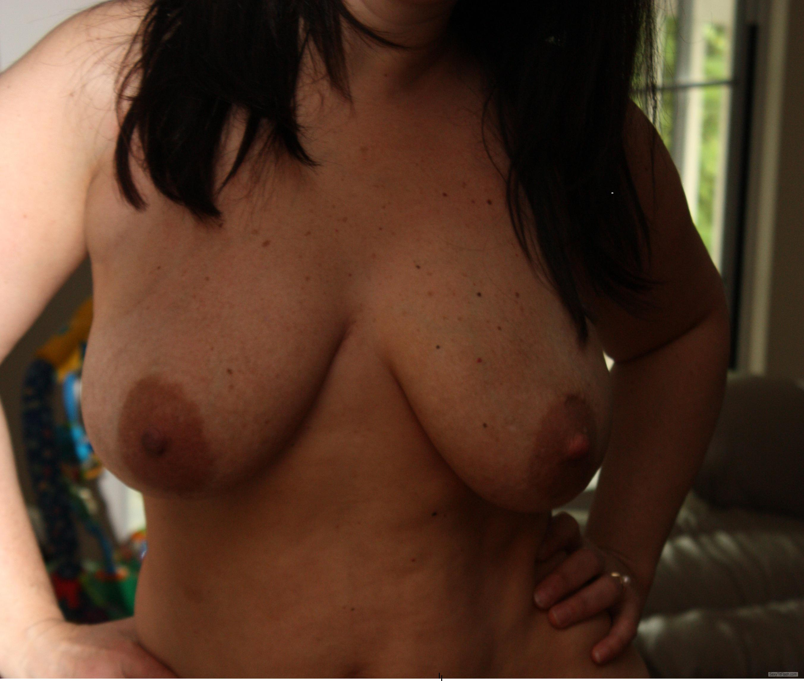 Tit Flash: My Big Tits - G.G from United States