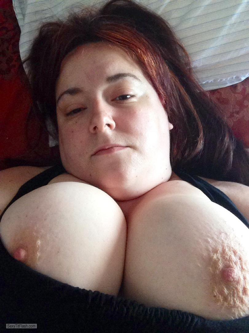 Tit Flash: My Friend's Big Tits - Topless Big Ones from United States