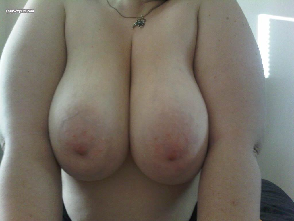 Tit Flash: Big Tits - Red Bettie from United States