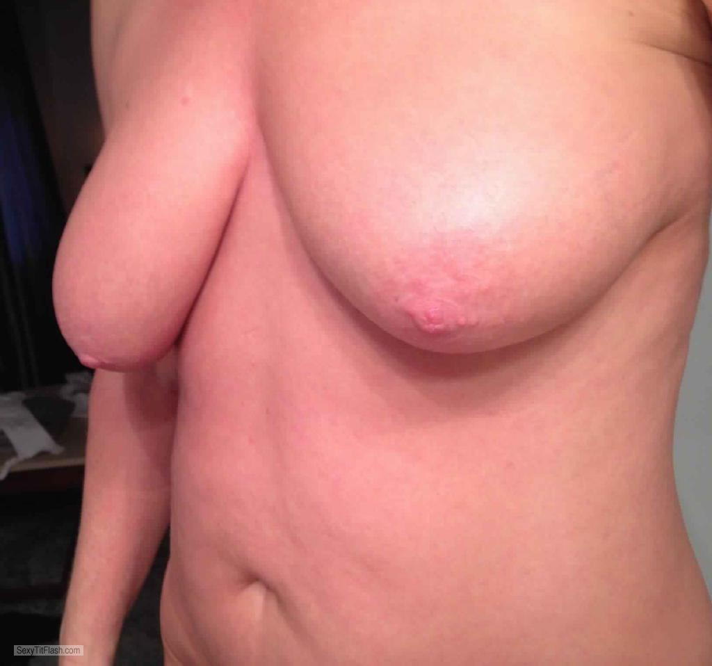 Tit Flash: My Medium Tits (Selfie) - My CUM Slave from United States