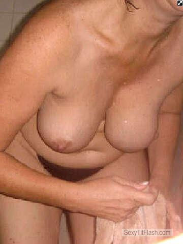 Tit Flash: Wife's Medium Tits - Lovetit from United States