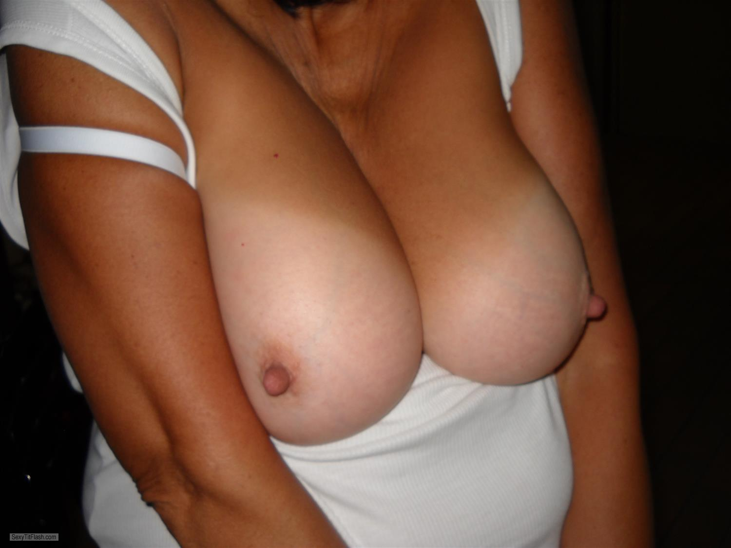 Tit Flash: My Big Tits With Strong Tanlines - SAlady from South Africa