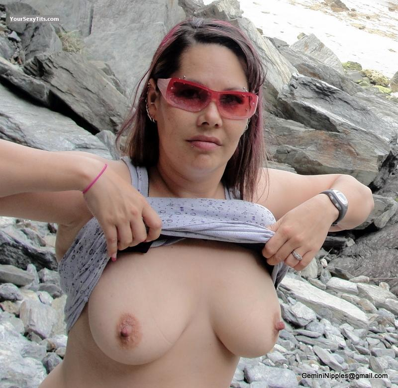 Tit Flash: Big Tits - Topless Gemini_Nipples from United States