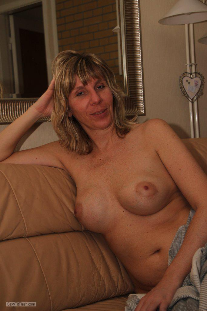 Tit Flash: My Big Tits - Topless Claudia from Germany