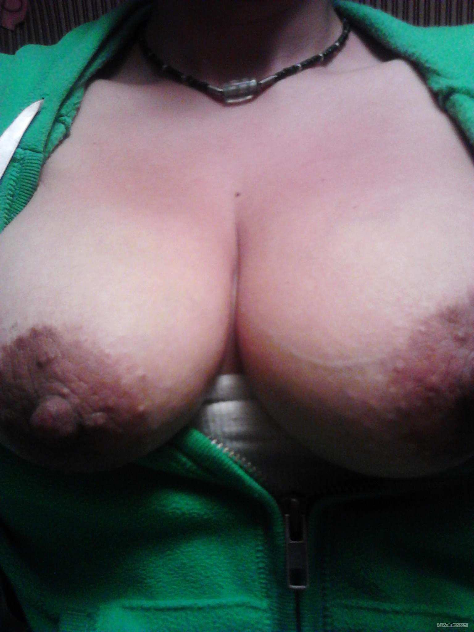 Tit Flash: Wife's Big Tits - Roxy1976 from United States