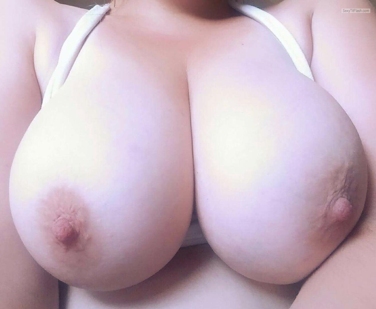 Tit Flash: My Big Tits (Selfie) - Lady D from Canada