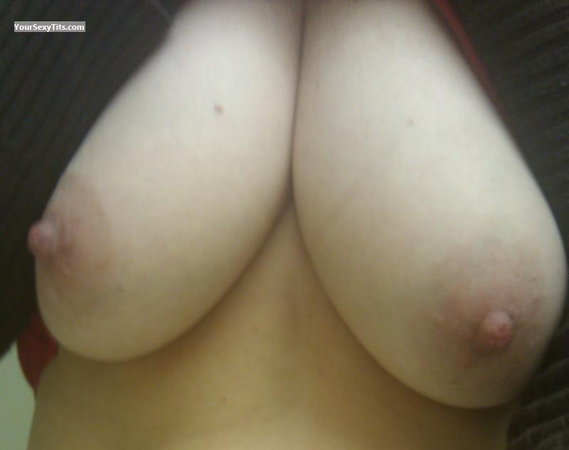 Tit Flash: My Big Tits (Selfie) - Sweater Puppies from United States