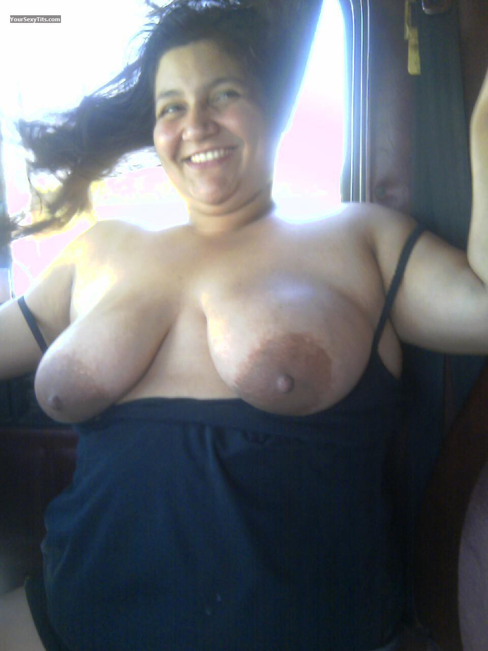 Tit Flash: Wife's Big Tits - Topless Tweety from Canada
