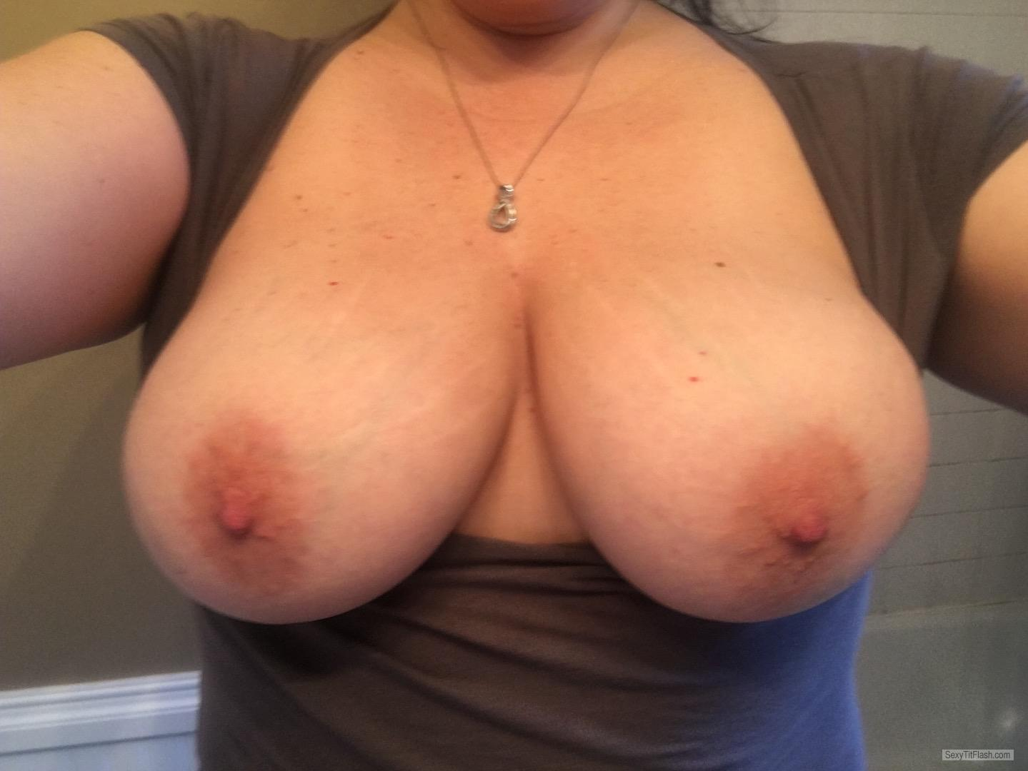 Big Tits Of My Wife Topless Selfie by Shan