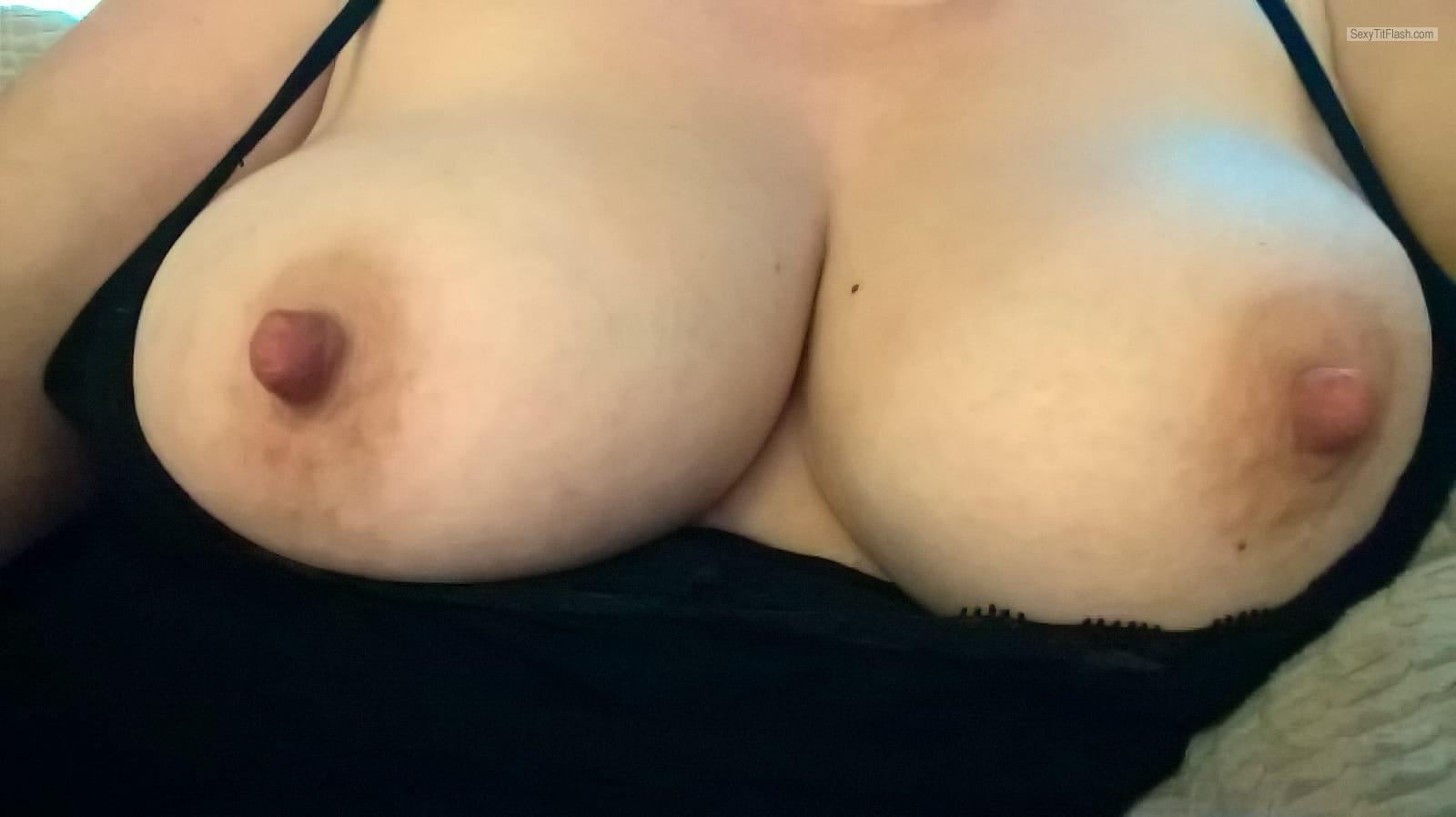 Big Tits Of My Wife Selfie by Slutty Married Wife