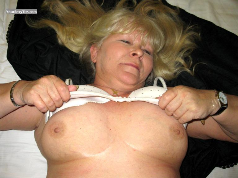 Tit Flash: Big Tits - Topless Sabine47 from Germany