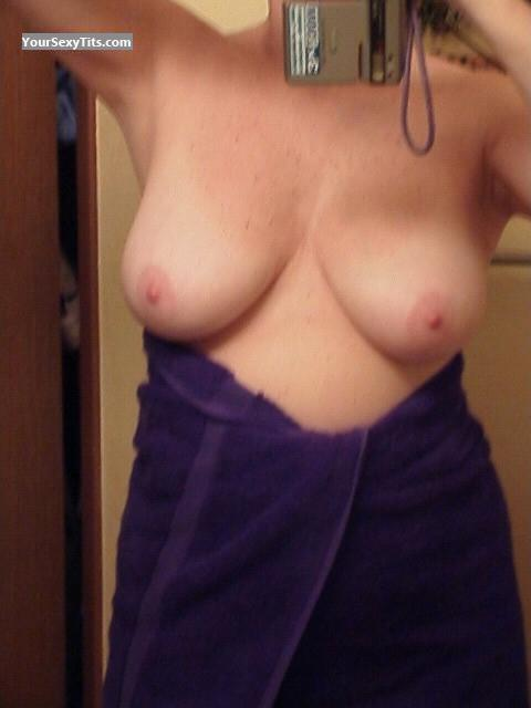 Tit Flash: Big Tits - Curley from United States