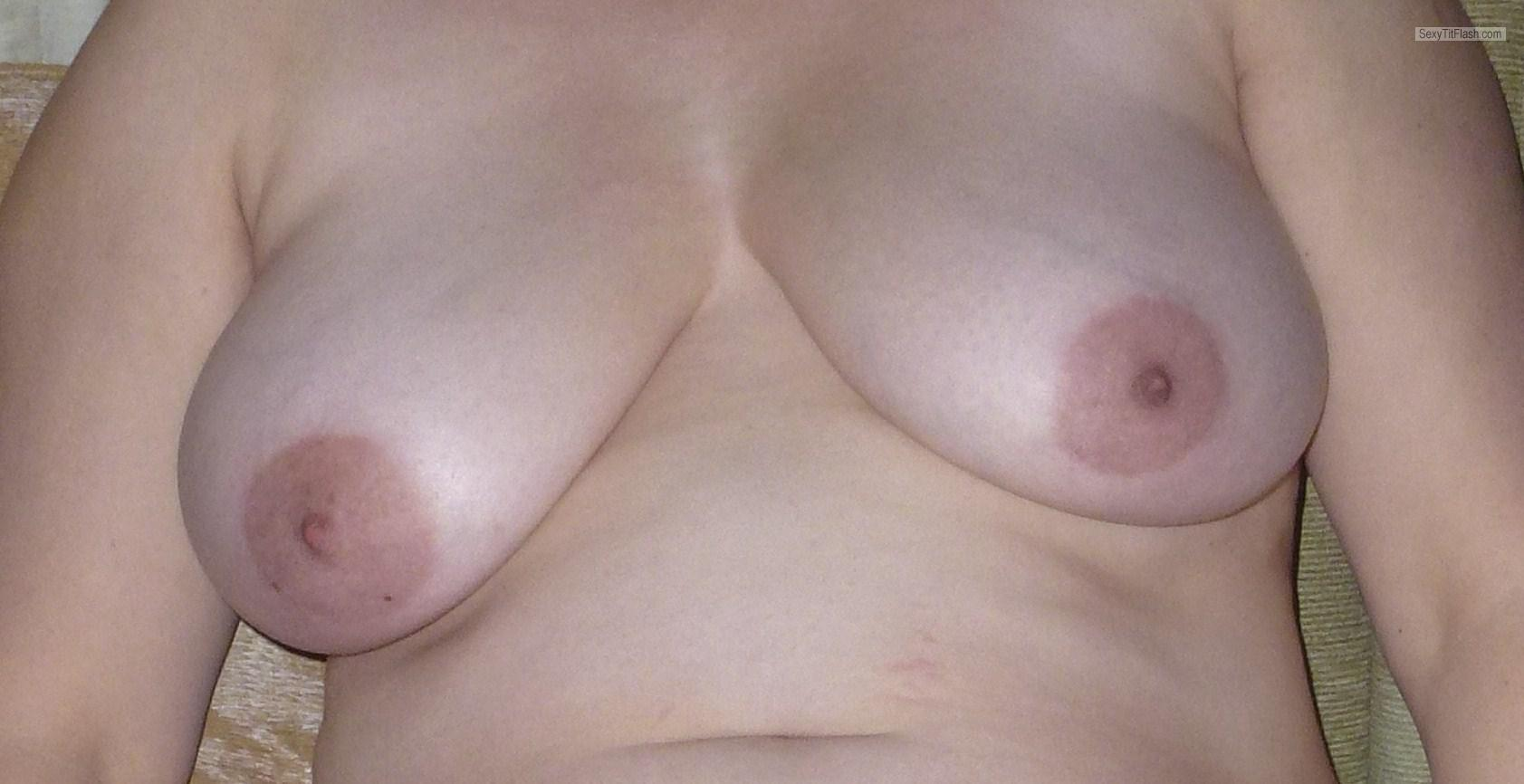 Tit Flash: Wife's Big Tits - BP from United Kingdom