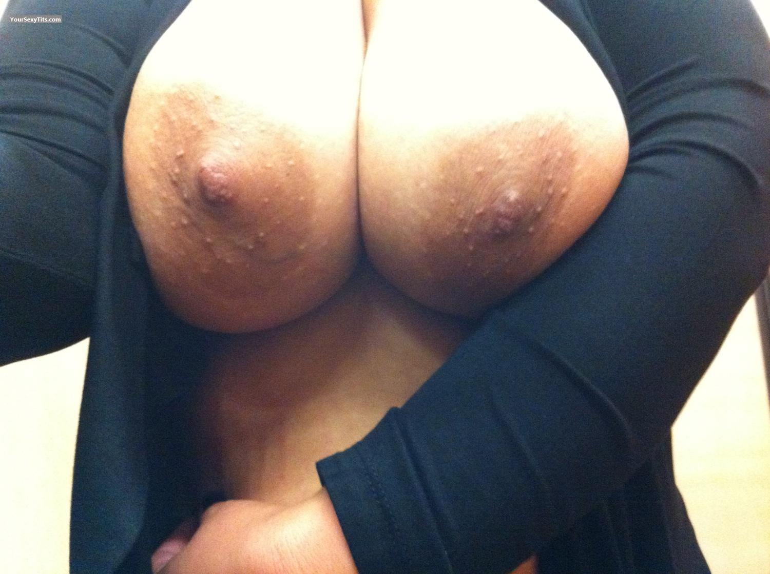 Tit Flash: My Big Tits By IPhone (Selfie) - Lady Dee from United States