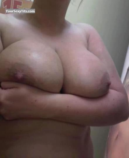 Tit Flash: Extremely Big Tits By IPhone - Stunning from United KingdomPierced Nipples